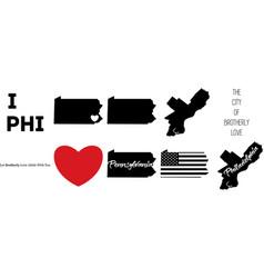 Philadelphia pennsylvania map vector