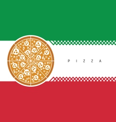 pizza italy color vector image