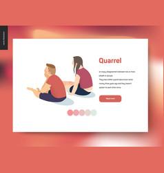 Quarrel concept vector