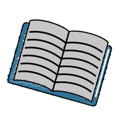 school notebook open to study icon vector image