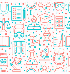 science and laboratory seamless pattern vector image