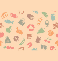 Seamless background with foods vector