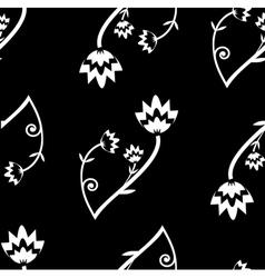 seamless folk background vector image