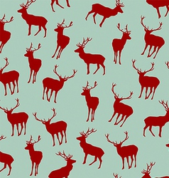 Seamless Pattern with Christmas Deers vector image