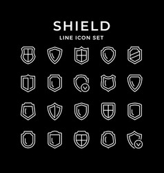 Set line icons shield vector