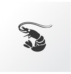 Shrimp icon symbol premium quality isolated prawn vector
