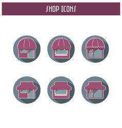 Simple flat shop icons vector image