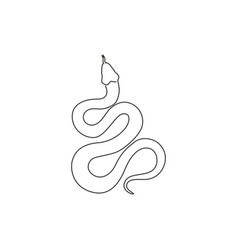 single continuous line drawing venomous snake vector image
