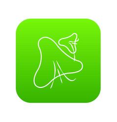 Smallpox virus icon green vector