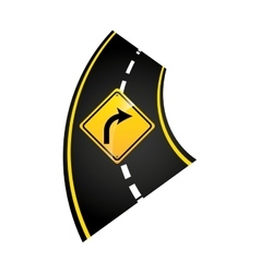 Turn right road sign concept graphic vector