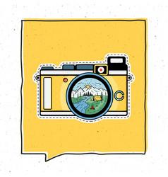 vintage adventure badge design vector image