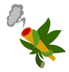 Weed flat on white vector