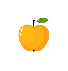 yellow apple icon vector image