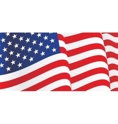 Background with waving American Flag vector image vector image