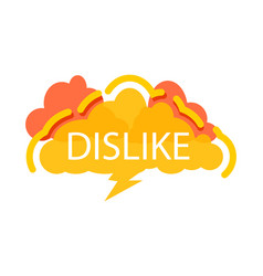Dislike speech bubble with expression text vector
