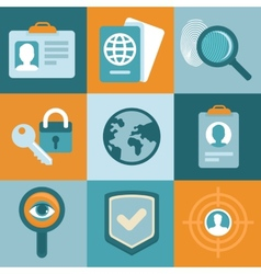 identification concepts in flat style vector image