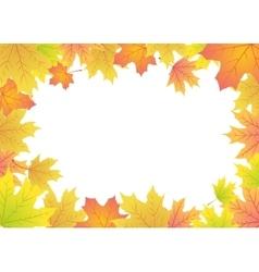 maple leaves frame vector image