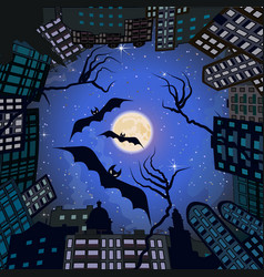 phobia in city at night vector image