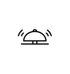 thin line hotel bell icon vector image
