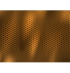 Circle perforated golden metal background vector image