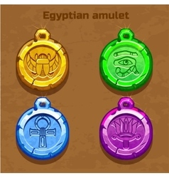 Colored old egyptian amulet vector image
