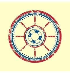 Lifebuoy symbol grunge vector image