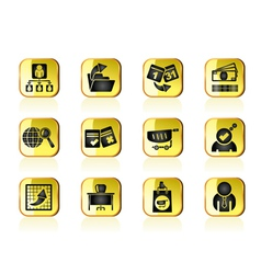 Management and office icons vector image
