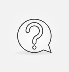 question mark in speech bubble icon or vector image vector image