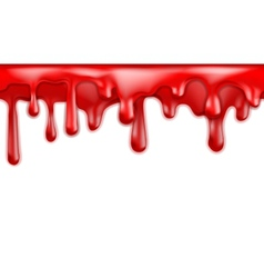 Red blood drips seamless patterns vector image vector image