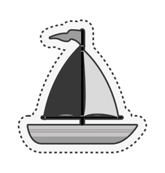 sailboat maritime isolated icon vector image vector image