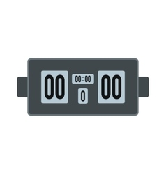 Scoreboard flat icon vector