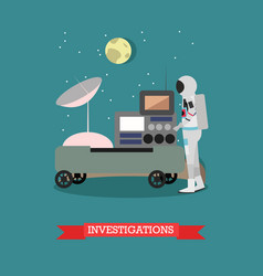 space investigations concept vector image