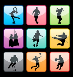 sports buttons set02 vector image