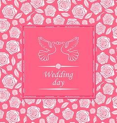 wedding rose rose vector image vector image