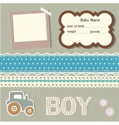 Baby scrapbook elements vector image vector image