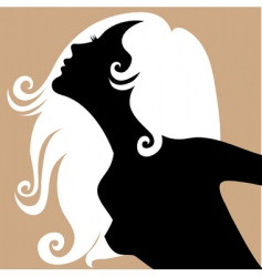 blond girl vector image vector image