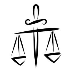 Libra of justice vector