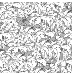 Palm tree seamless pattern colorless vector