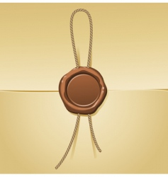 sealing wax and letter vector image