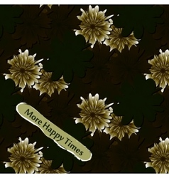Abstract floral background Flowers fabric vector image