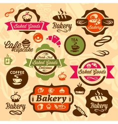 bakery badges and label vector image vector image