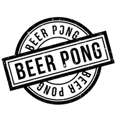 Beer Pong rubber stamp vector image