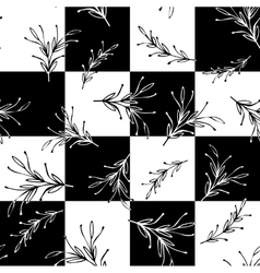 Black and white floral square minimal simple vector image