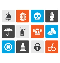Flat Surveillance and Security Icons vector image