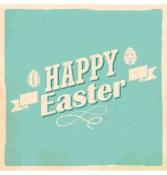 Happy Easter typography background vector image vector image