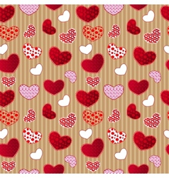 Red Vintage Love Valentins Day Seamless Pattern vector image vector image
