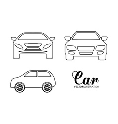 Silhouette cars set Transportation design vector image
