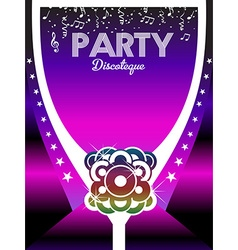 80s party poster art background vector