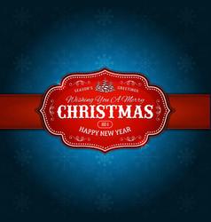a retro christmas design banner vector image