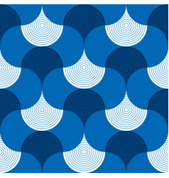 Abstract geometric sea water seamless pattern vector